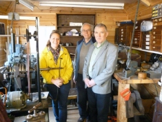 Martin Matthews, David Wood-Heath and Callie Shelvin in the Shop